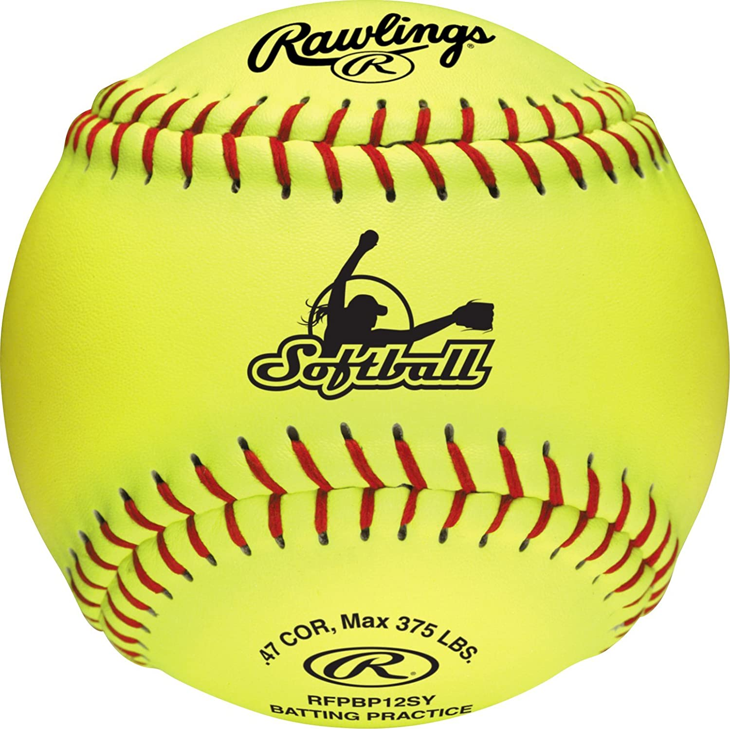Rawlings Fastpitch Softballs, Yellow, 12 Inch, Collegiate and High School (Box of 6), RFPBP12SY-BOX6 : Sports & Outdoors
