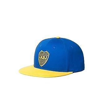 c6a5e30868465 Fan Ink Limited CAB-2093-3015 Boca Juniors Adjustable Snapback 2 Tone Flat  Peak Soccer Hat