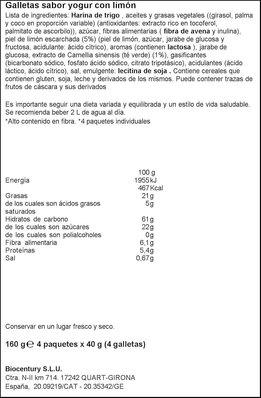Bicentury Galletas devoragras Yogur Limón - 160 gr: Amazon.es: Amazon Pantry