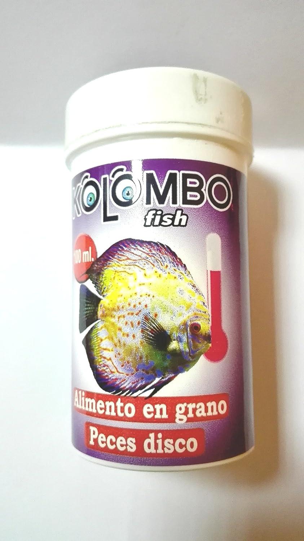 Alimento en grano para peces Disco KOLOMBO (Formato 100 ml): Amazon.es: Productos para mascotas