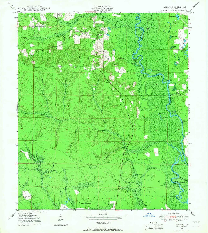 Amazon.com : YellowMaps Redbay FL topo map, 1:24000 Scale ...