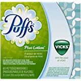 Puffs Plus Lotion with Vicks Facial Tissues, 24 Cubes, 48 Tissues per Cube (Packaging May Vary)
