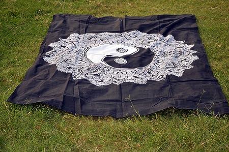 Sábana de algodón indio Mandala para yoga o picnic, esterilla de ...