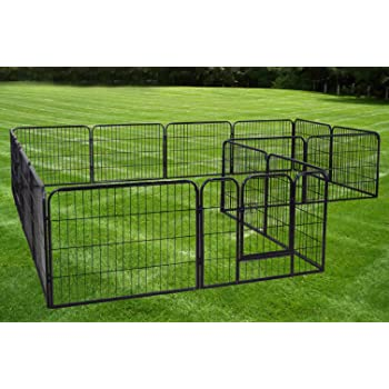 Amazon Com Large 16 Panels Pet Dog Cat Metal Exercise