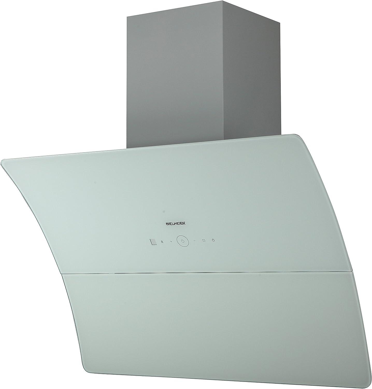 Bielmeier 939901/Hotte//Hotte murale//89.5/cm//Ventilateur rev/êtement t/éflon//Verre blanc Ventilateur Diam/ètre 156/mm haute performance m/étal