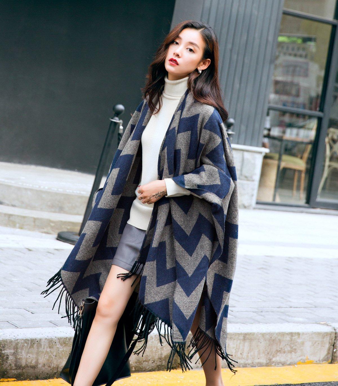 XYZHF** Extra grossen Schal auf dem Stapler langen Winter herbst Mantel  Mantel jacke Flow der beiden Frauen mit dicken Schal: Amazon.de: Küche &  Haushalt