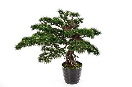 Artplants pino bonsai artificiale milan aghi verdi cm
