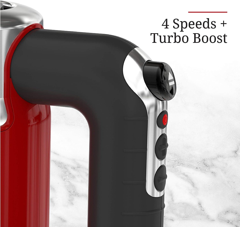 4 Geschwindigkeiten Remington Russell Hobbs MX3100RDR Handmixer im Retro-Stil Turboboost Rot