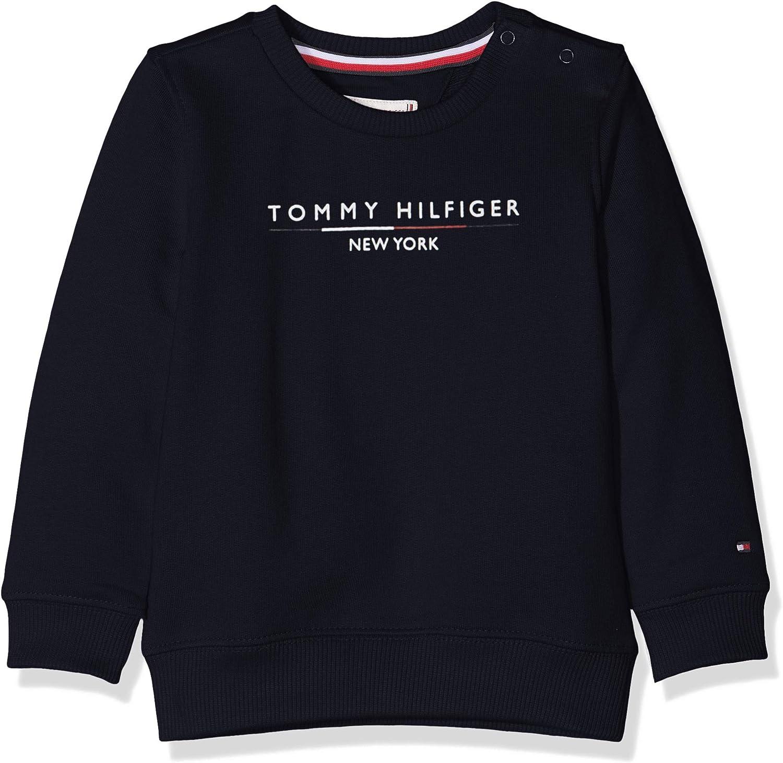 Tommy Hilfiger Essential Logo Crew Sweatshirt Sudadera para Beb/és