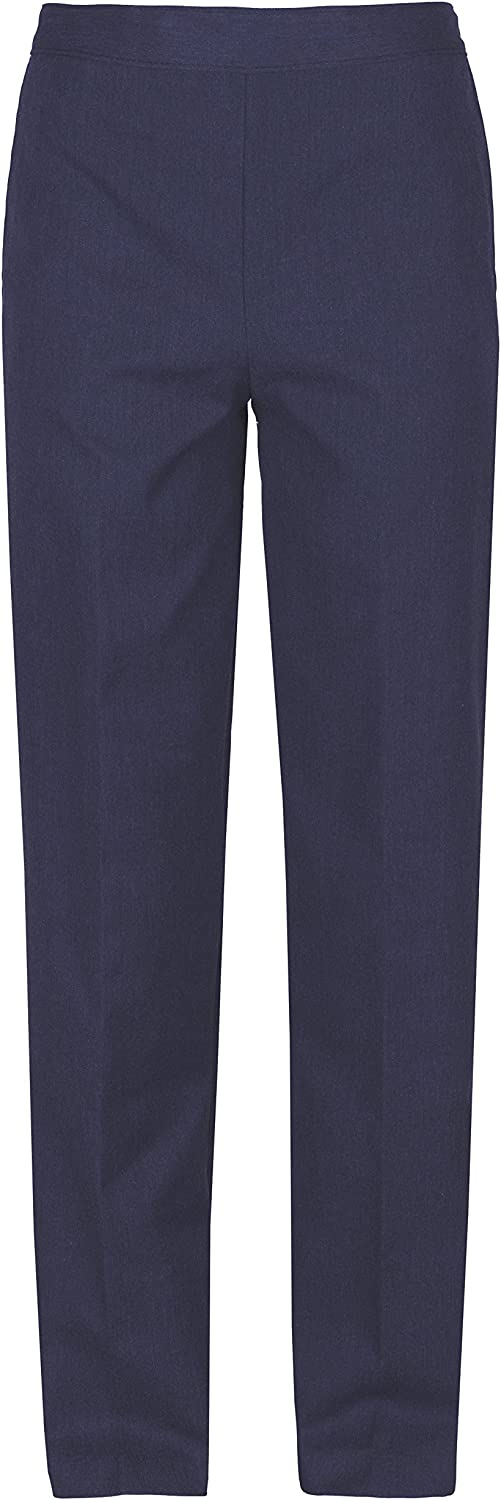EX M/&S Boys Regular Fit Black Grey Charcoal Navy School Trousers Elastic Adjustable Waist 2-16 Yrs