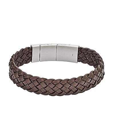 78bf6a891 Fossil Men Stainless Steel Strand Bracelet - JF02933040: Amazon.co.uk:  Jewellery