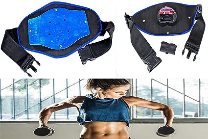 a7790688a3079 Frackkon Slimming Massager Belt with Vibration Magnetic Tummy Control  Shapewear Stomach Fat Burner Workout Sauna Suit