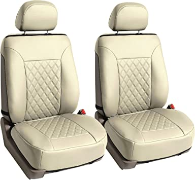 Trucks /& SUVs Font Set with Gift FH Group FH1018 Faux Leather Seat Protectors Universal Fit for Cars Beige