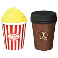 TEEGOMO Soft Popcorn and Coffee Cup (Cinema Pack) Slow Rising Scented Jumbo Squishy Stress Relief Squeeze Decorations Kids Toy