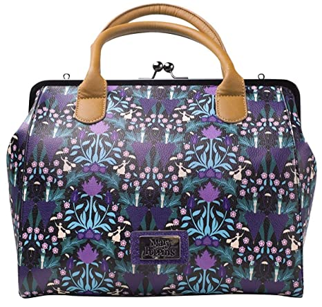 78a2be7a17 Bioworld Disney Mary Poppins All-Over Print Shopper Bag Bagaglio a mano 34  centimeters 25