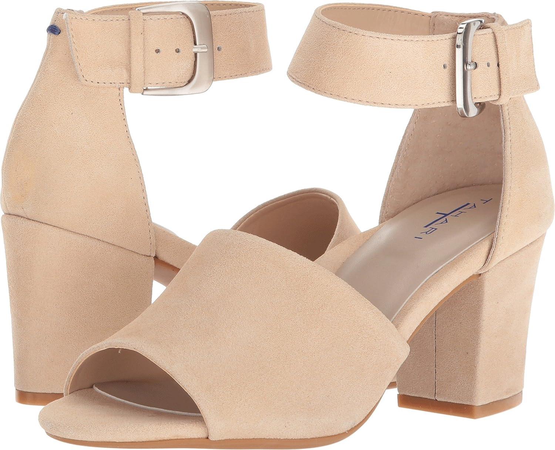 Tahari Women's Tt-Pennie Heeled Sandal B078Y7W3HT 5.5 B(M) US|Bare Nude Shimmer Suede