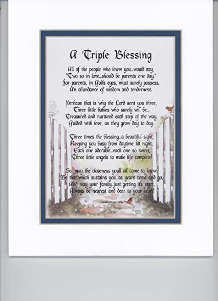 Amazon a gift present poem for triplets 130 parents of a gift present poem for triplets 130 parents of triplets poem negle Gallery