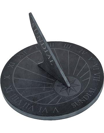 Thorness Grandes Reloj de sol de pizarra, redondo? 25 cm Diámetro