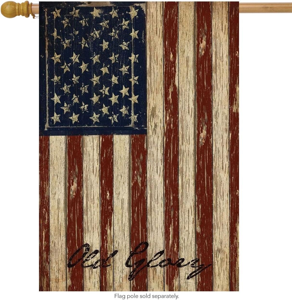 "Briarwood Lane Old Glory Patriotic House Flag Vintage American Flag 28"" x 40"""