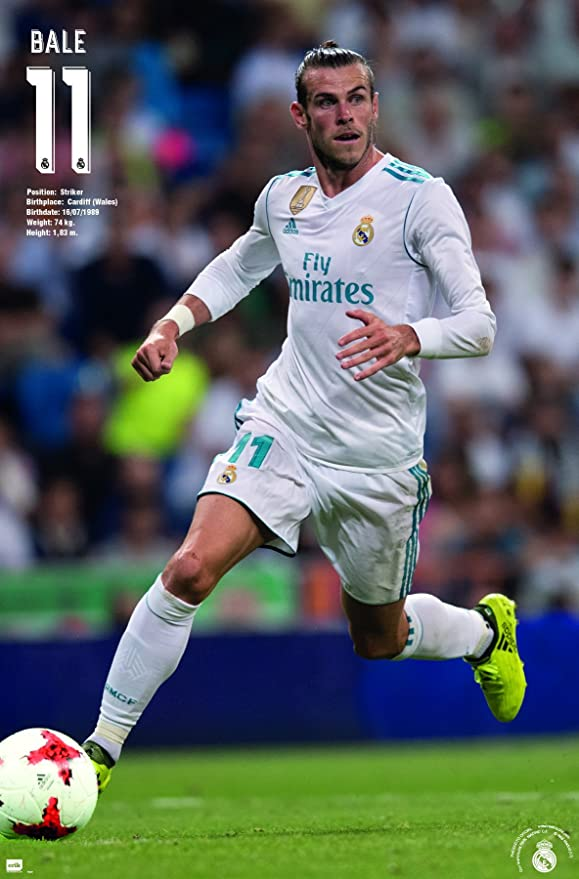 Gareth Bale 2 Real Madrid Poster Welsh Football Player Photo Sport Star Picture