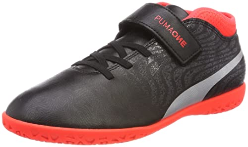 Puma One 18.4 IT Jr, Zapatillas de Fútbol Unisex Niños, Negro (Puma Black-Puma Silver-Red Blast), 38 EU