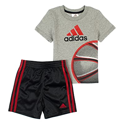 Adidas Little Boys 2-Piece T-Shirt & Basketball Shorts Set