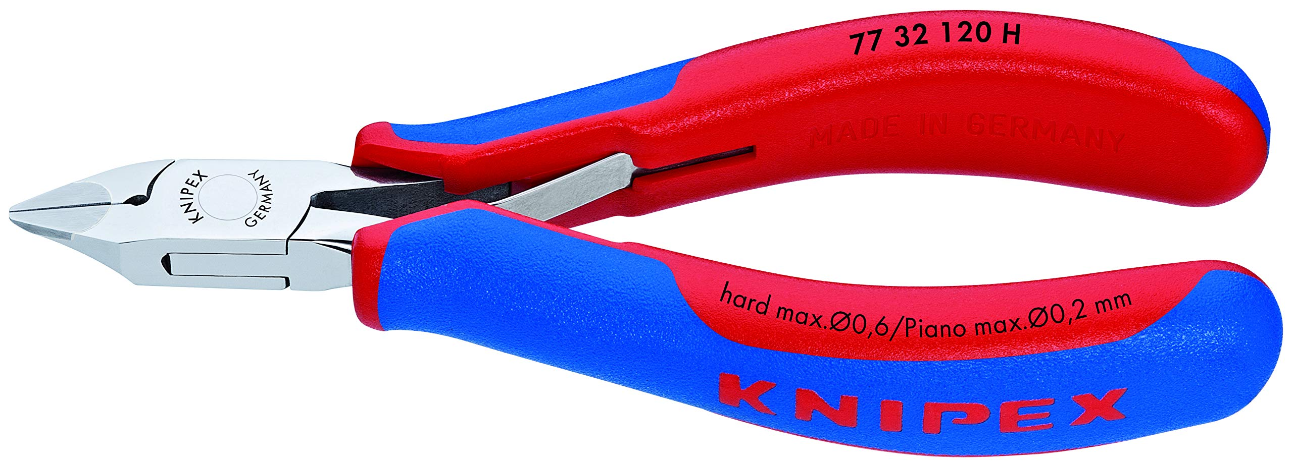 KNIPEX Tools 77 32 120 H Electronics Diagonal Cutters, Carbide Cutting Edges, 4.75-Inch