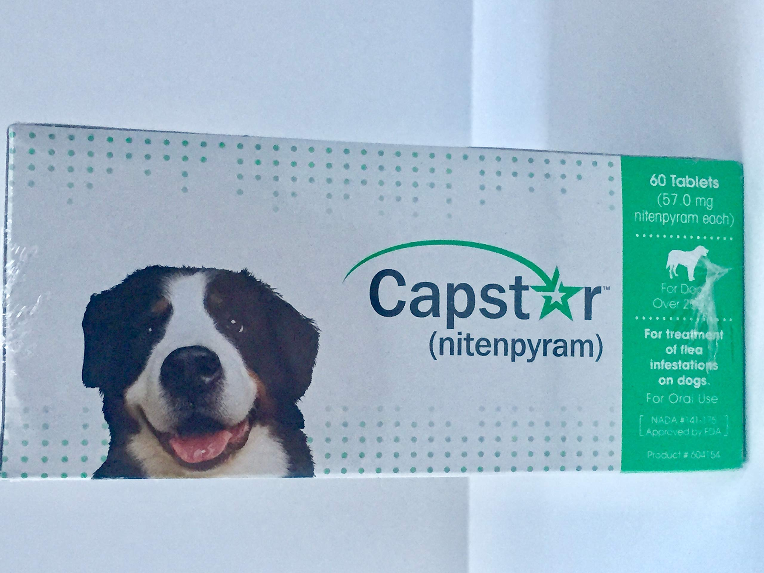 capstar (nitenpyram 57.0 mg Dogs Over 25 lbs (60 Tablets) by capstar (Image #3)