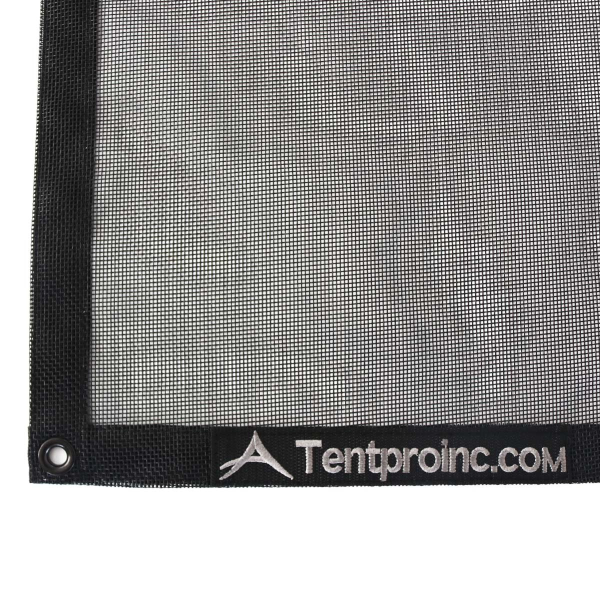 Tentproinc Truck Mesh Tarp 9' X 12' Black Heavy Duty Cover Reinforced Double Needle Stitch Webbing Ripping and Tearing Stop, No Rust Thicker Brass Grommets - 3 Years Limited Warranty by Tentproinc (Image #5)