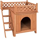 NEW Clevr Wooden Indoor Outdoor Dog House Pet 2 two Story Double Decker Balcony