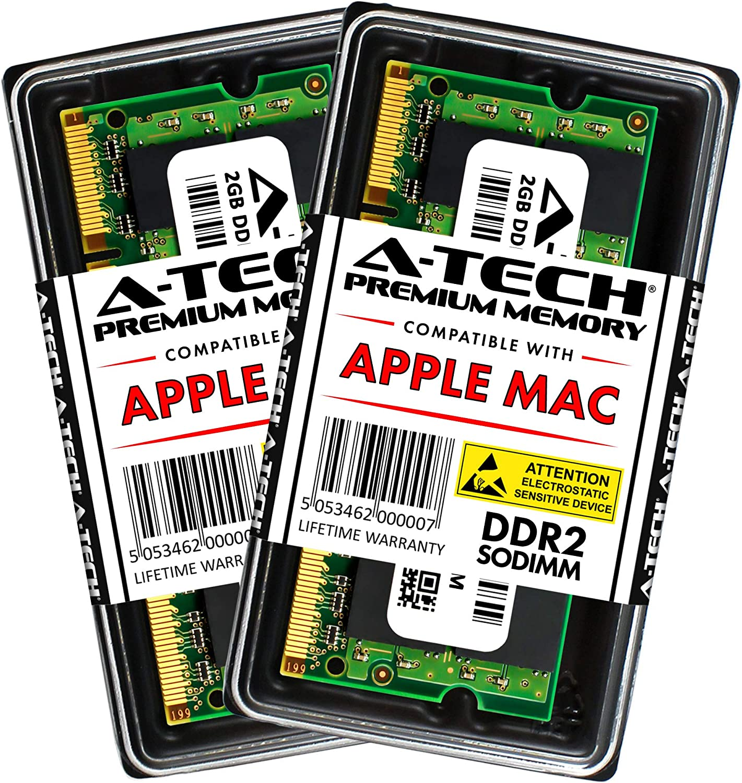 A-Tech 4GB Memory Kit 2x2GB Apple MacBook and MacBook Pro PC2-5300 667MHz Ram A1261 A1260 A1181 A1229 A1226 MA896LL MA895LL MB063LL/A MB062LL/A