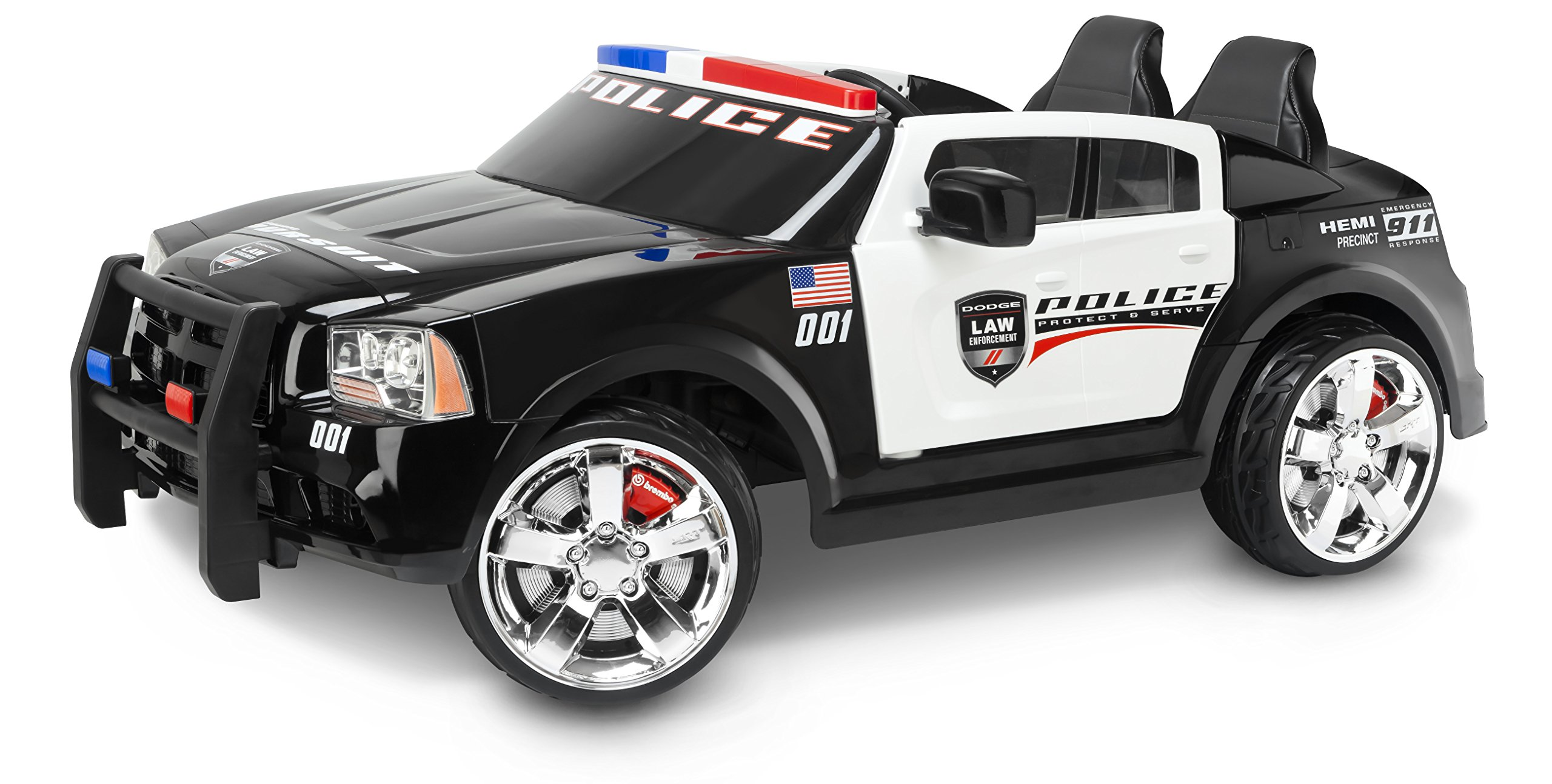 Kid Trax Dodge Charger Pursuit 12V Police Car KT1111WM Ride On by Kid Trax
