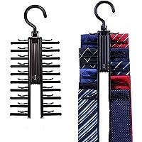 HDE Tie Rack - Closet Storage Organizer Scarf Hanger Holder for Ties for Men (2 Pack)