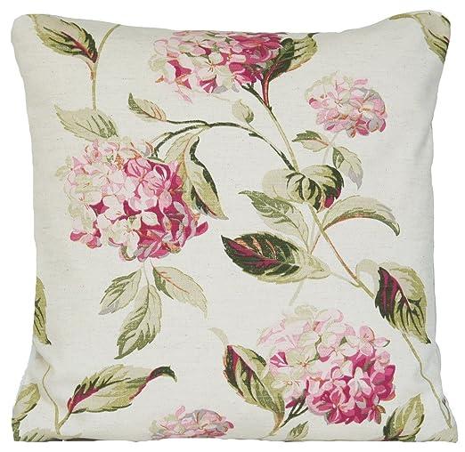 Laura Ashley Cojín, diseño de hortensias, Color Rosa/Verde ...