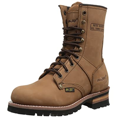 """AdTec Women's 9"""" Logger Brown Work Boot: Shoes"""