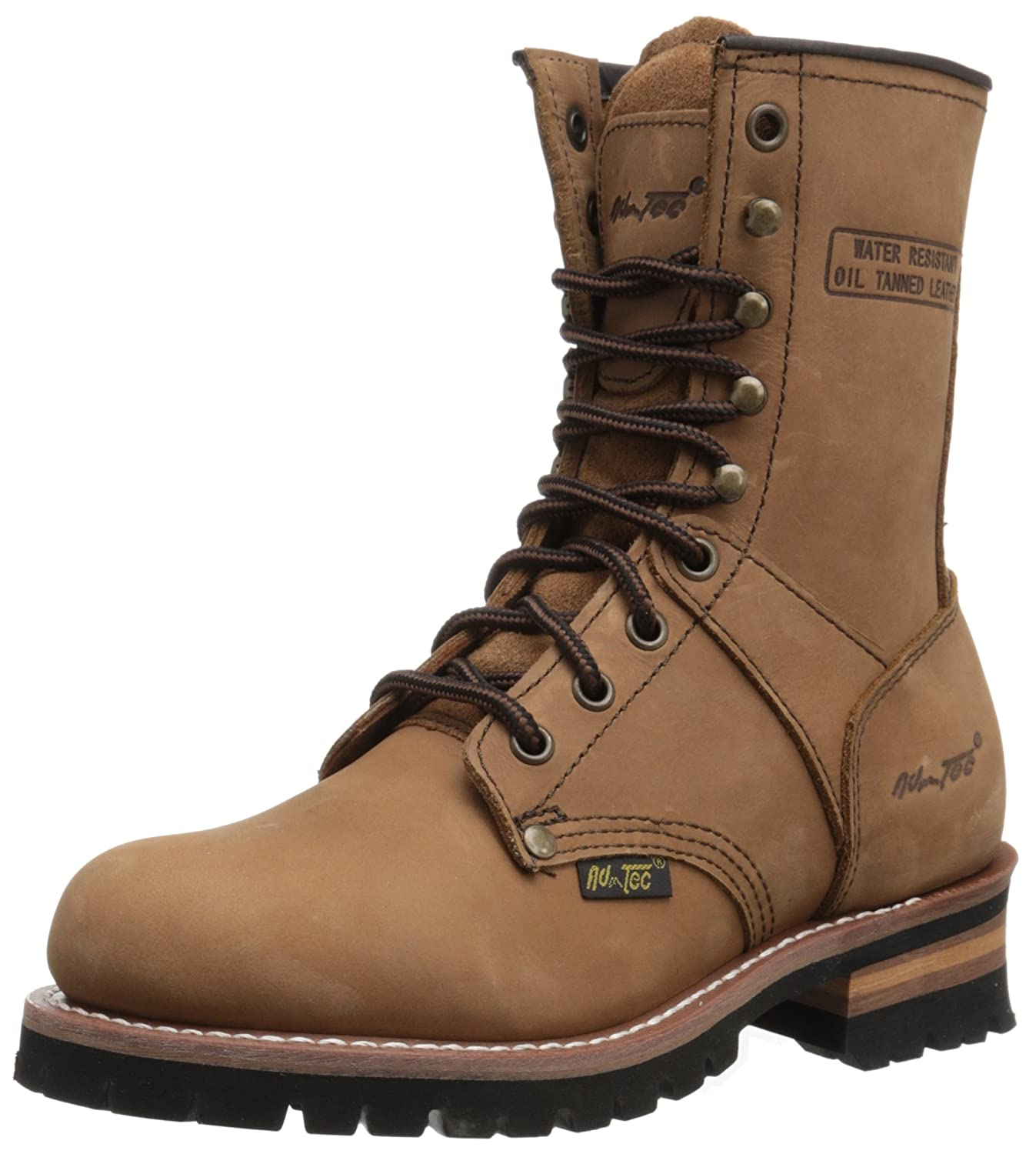 Adtec Women's 9' Logger Brown Work Boot Women' s 9 Logger Brown-W