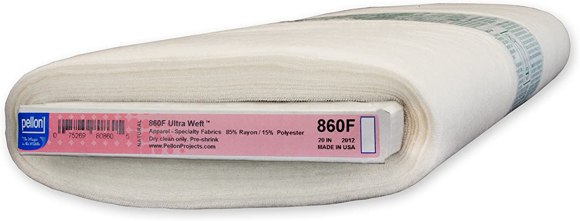 Pellon Ultra Weft Insertion Fusible Interfacing 20-Inch by 25-Yard Natural