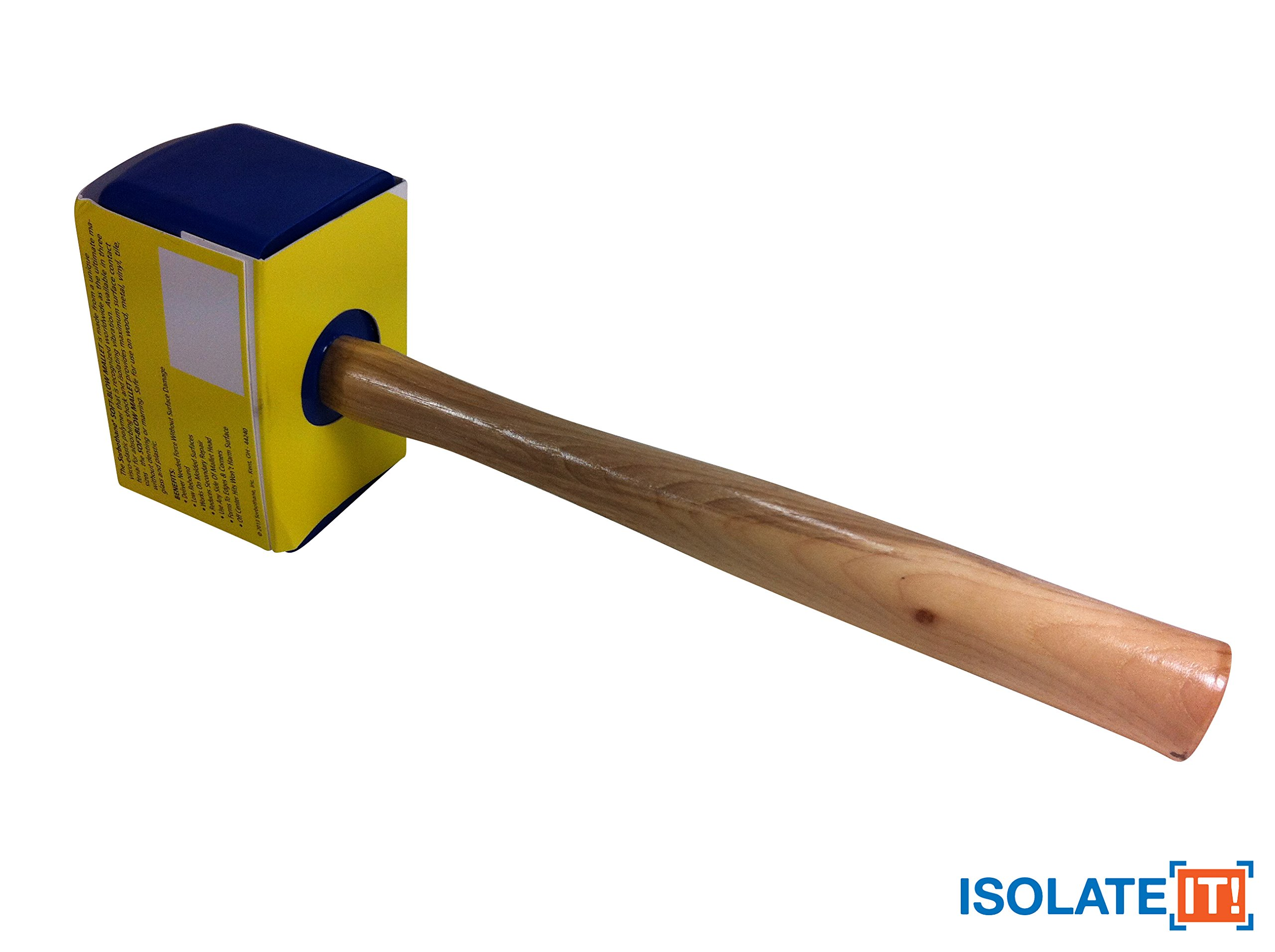 Isolate It!: Sorbothane Soft-blow Mallet for Automotive, Cabinetry, Carpentry and Glass Work - Large 20oz by Isolate It! (Image #1)