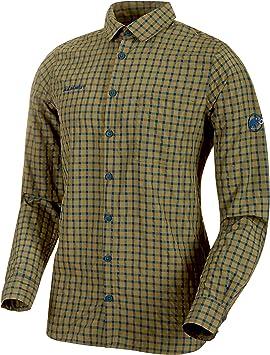 Mammut Lenni - Camisa de Manga Larga para Hombre, Hombre, Camisa de Manga Larga, 1015-00290, Verde Oliva, Small: Amazon.es: Ropa y accesorios