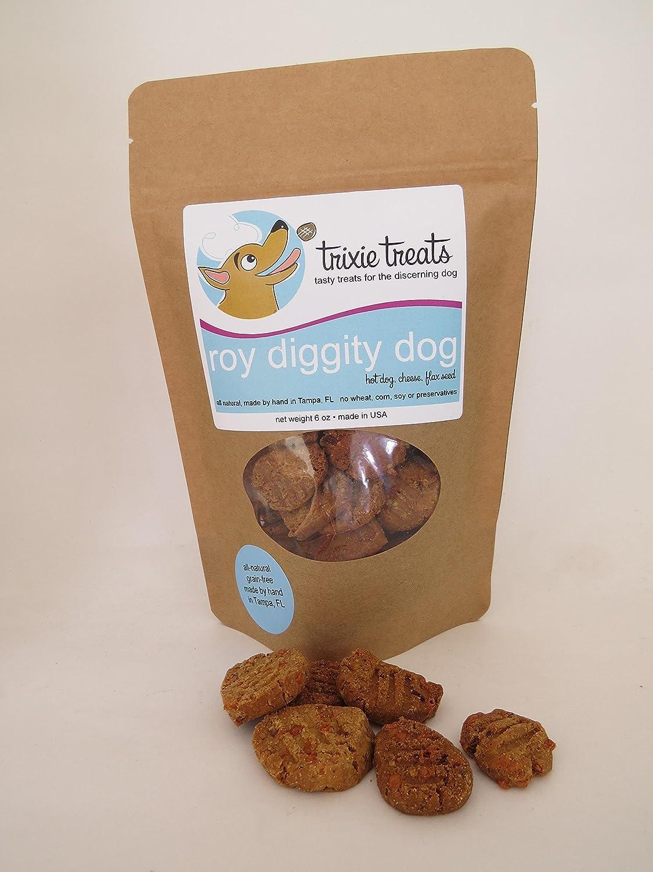Trixie Treats grain-free hot dog and cheese dog treats - Roy diggity dog