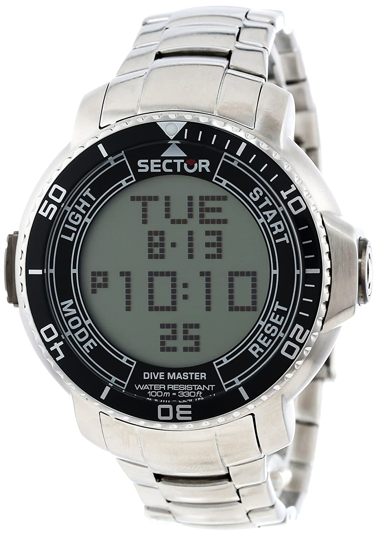 Sector herren armbanduhr xl dive master digital edelstahl - Sector dive master ...