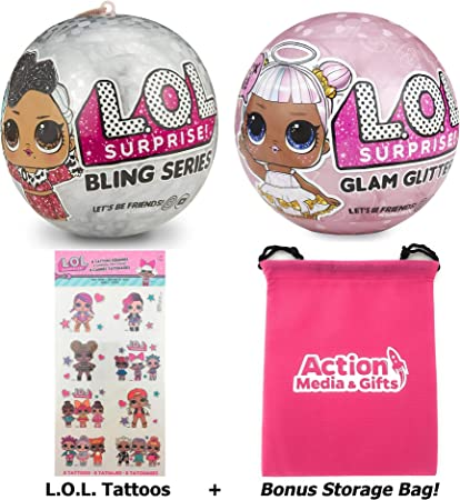 LOL SURPRISE DOLL PINK BABY HOLIDAY BLING SERIES /& Lil Pink Baby Xmas gift