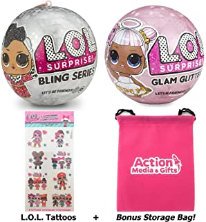 LOL Surprise Dolls Holiday Bundle - (1) Bling Series + (1) Limited