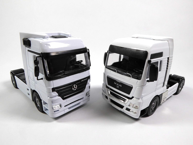 OPO 10 - Lote de 2 Camiones 1/50 TEKNO JOAL: Mercedes ACTROS + Man