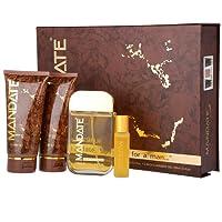 Mandate 4 Piece Gift Set - Eau de Toilette 100ml & 20ml, 150ml Aftershave Balm, 150ml Shower Gel