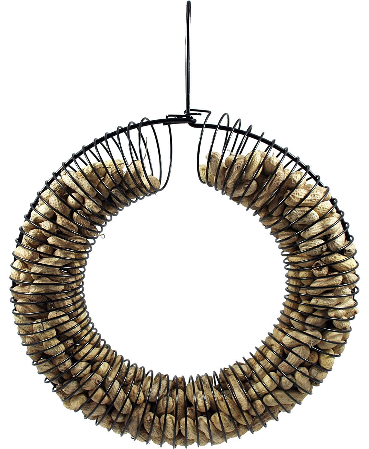 Whole Peanut Wreath Ring Black Pinebush Home & Garden