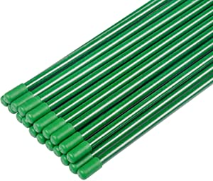 ZJIA 5 Ft Garden Stakes Fiberglass Plant Stakes Sturdy Tomato Stakes, Pack of 20