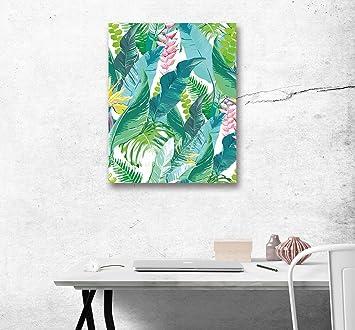 LB Pflanze Blatt Grün Bild Druck Auf Leinwand Leinwand Wand Kunst Dekoration  1 Panel Wand Dekor