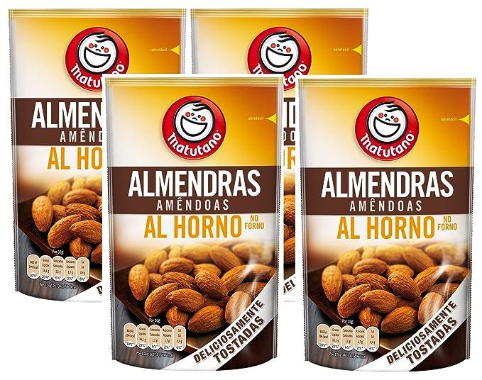 Matutano - Almendras Tostadas Al Horno - 128 g - [Pack de 4 ...
