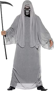 Smiffys Smiffys-44353ML Disfraz de La Muerte, con túnica y Media ...